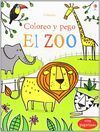 EL ZOO  COLOREO Y PEGO