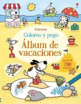LIBRO DE VACACIONES  COLOREO Y PEGO