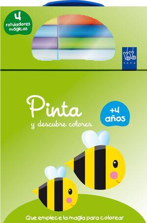 PINTA Y DESCUBRE COLORES +4. ABEJA