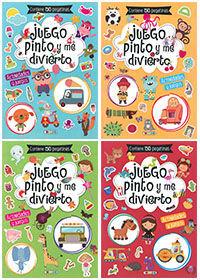 JUEGO, PINTO Y ME DIVIERTO (4 TÍT.)