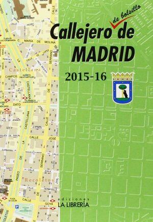 CALLEJERO DE BOLSILLO DE MADRID 2015-16