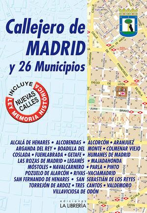 CALLEJERO DE MADRID Y 26 MUNICIPIOS