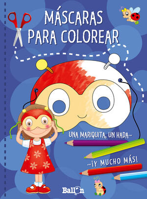 MÁSCARAS PARA COLOREAR (AZUL)