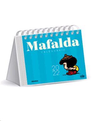 CALENDARIO 2022 MAFALDA ESCRITORIO-AZUL